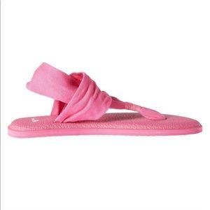 Sanuk pink sling yoga mat sandals size 11